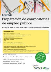 Curso de preparación de pruebas de empleo público para personas con discapacidad intelectual