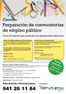 Hasta el 27 de abril: Inscripciones al curso para convocatorias de empleo público para personas con discapacidad intelectual
